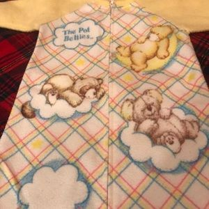Vintage The Pot Bellies Newborn Baby Sleeper Gown